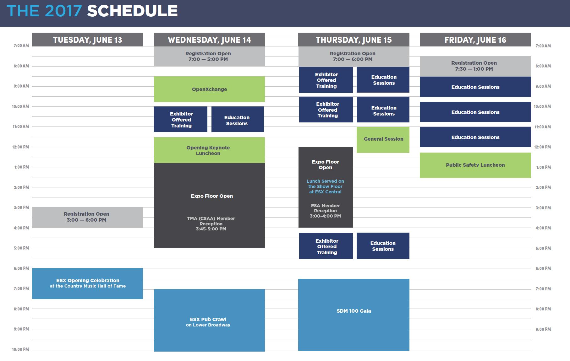 ESX Quick Peak Schedule